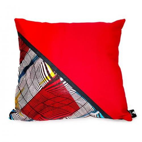Funky Red Velvet Cushion Cover