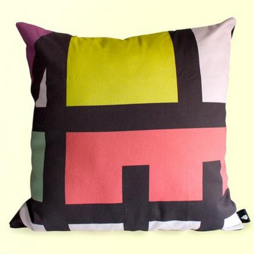 Colour blocked Scatter Cushion